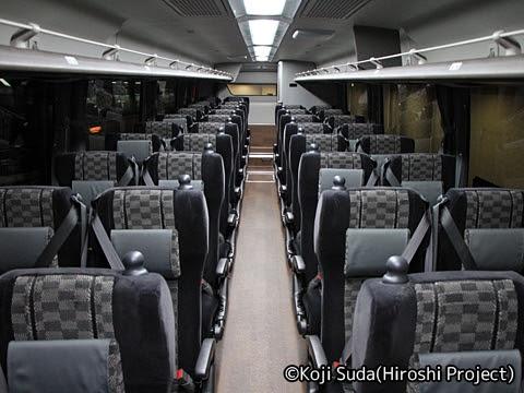 名鉄バス 「名神ハイウェイバス京都線」 3906 車内