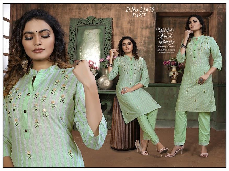 Simran Design No 21475 Kurtis Pant Set Catalog Lowest Price
