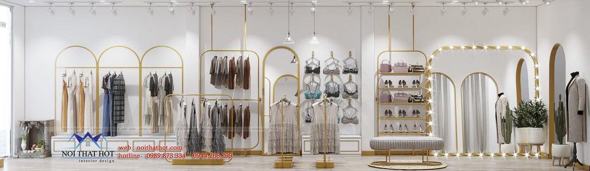 thiết kế nội thất shop thời trang 40m2