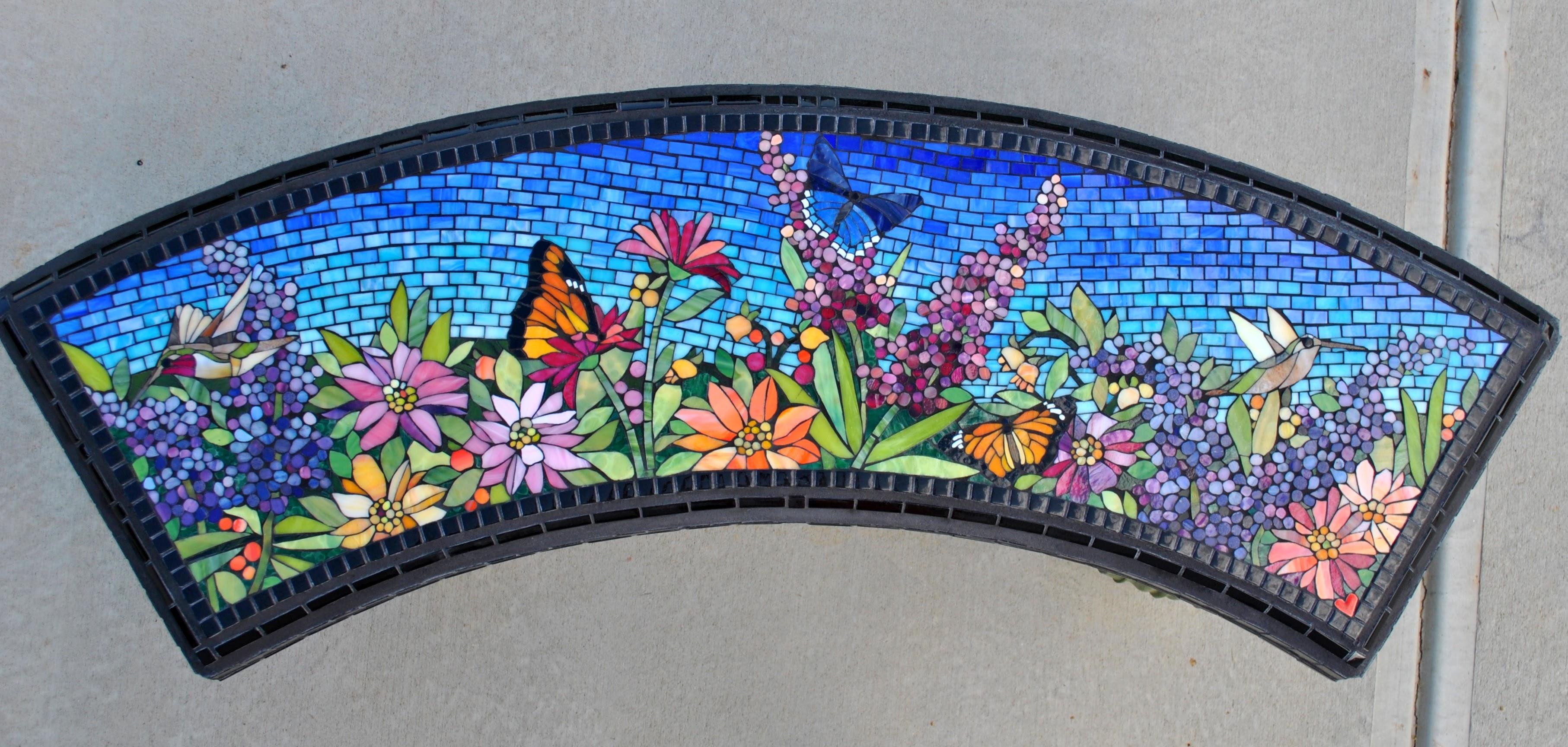 Summer Garden Mosaic Bench