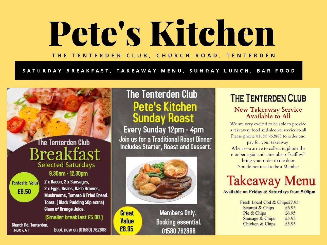 The Tenterden Club and Petes Kitchen
