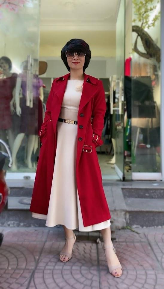 Áo khoác măng tô nữ dáng dài mùa thu đông V747 thời trang thủy kiến an