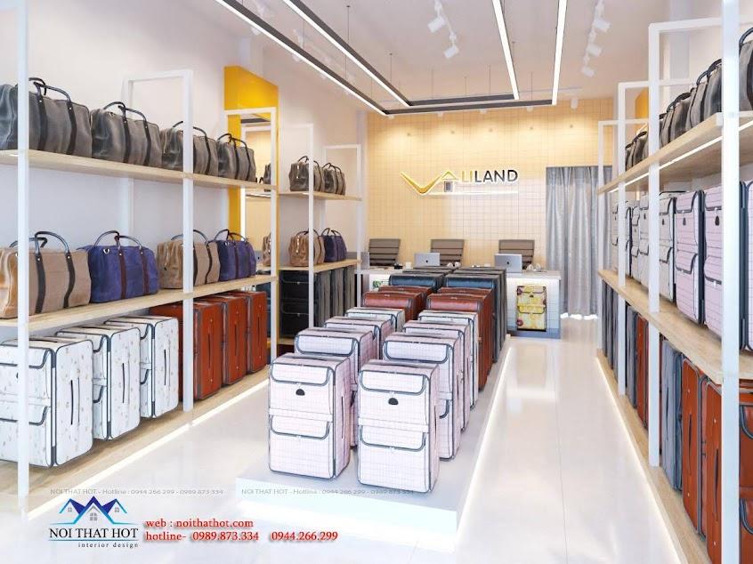 thiết kế cửa hàng bán vali du lịch