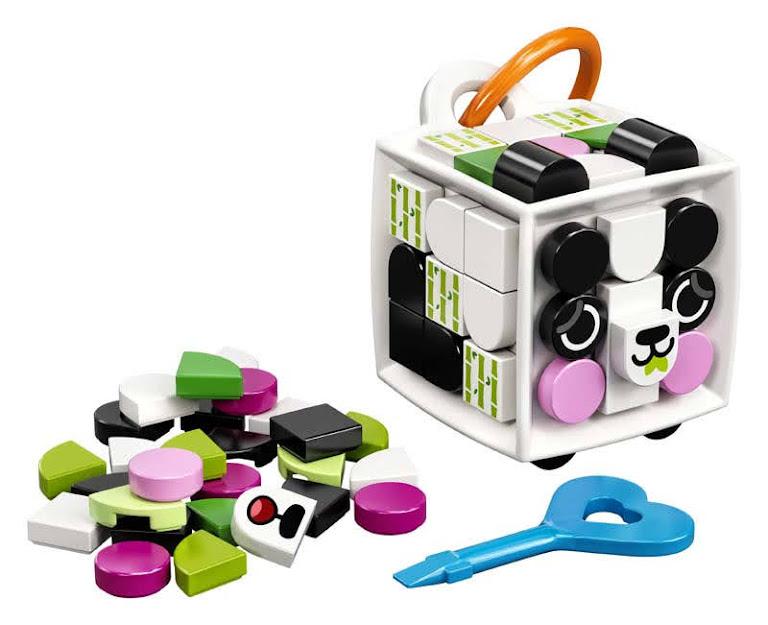 Contenido de LEGO® 41930 Adorno para Mochila: Panda