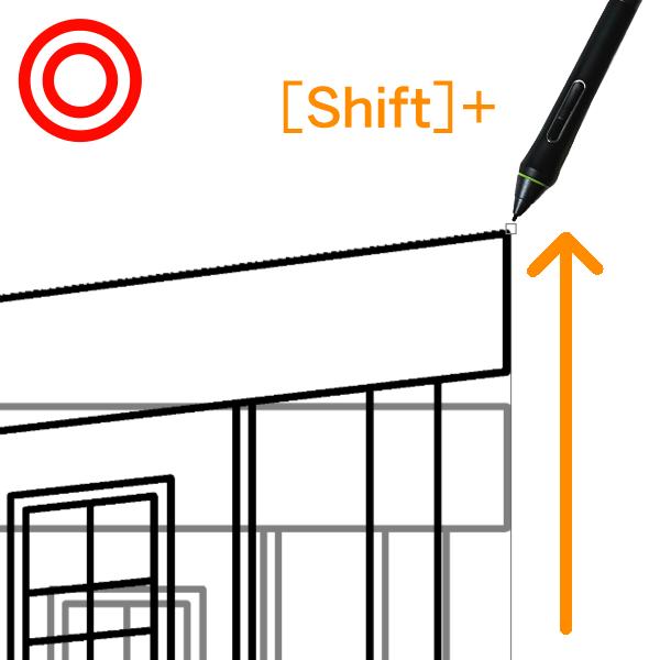 クリスタ:自由変形(Shift)