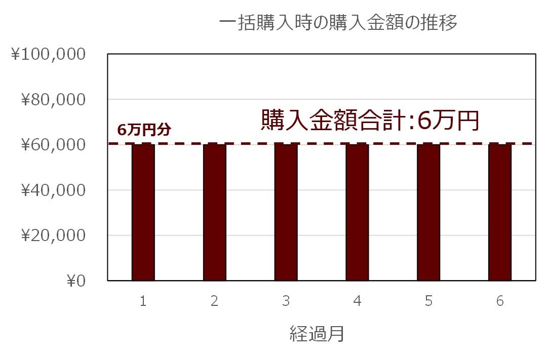 一括購入の場合の例(グラフ)