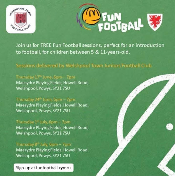 Free sessions for kids to 'try football'