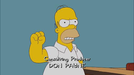 Los Simpsons 23x01 El juego del halcón y el hombre, ¡jo!