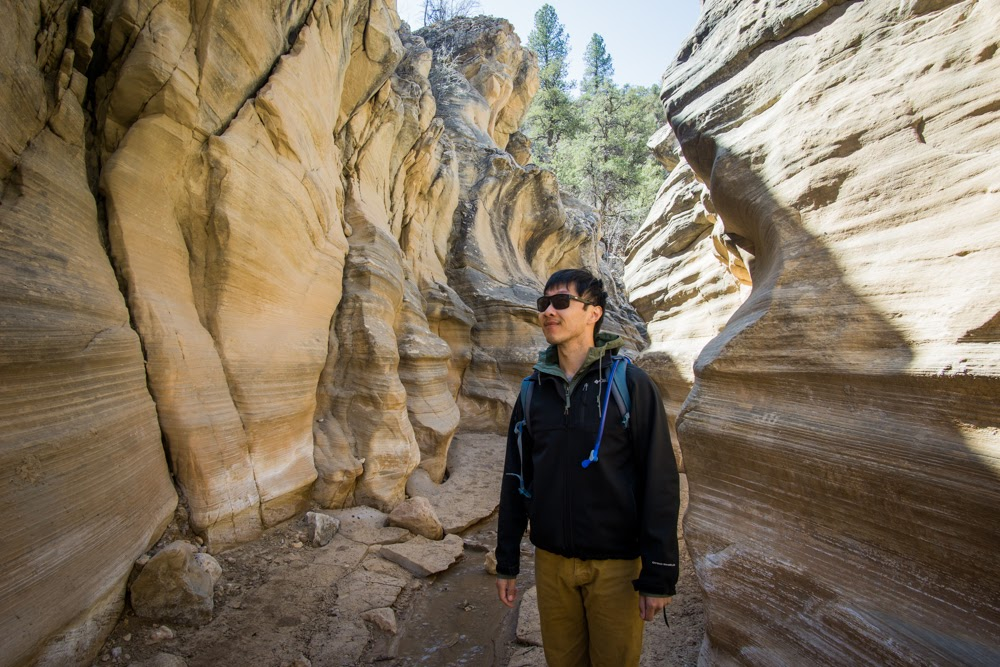HB in Slot Canyon