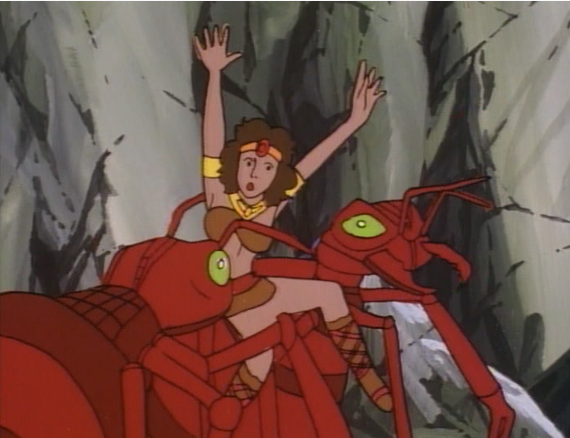 Giant ants grab Diana