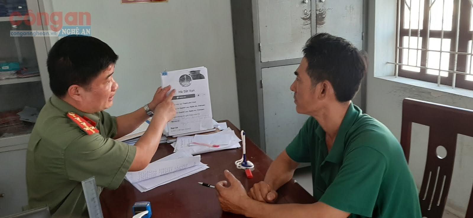 Cơ quan công an làm việc với đối tượng Nguyễn Viết Hà