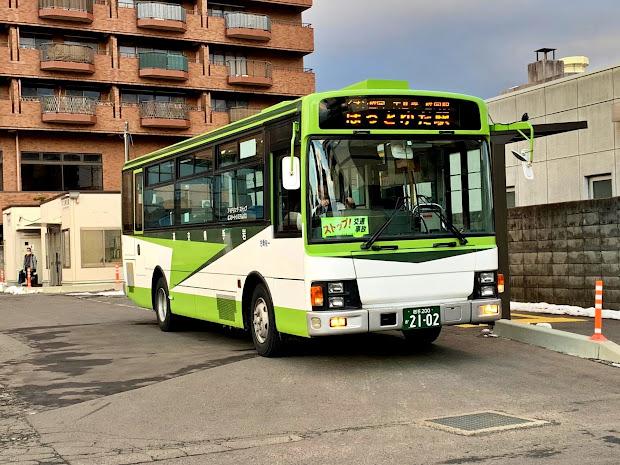 盛岡バスセンター停車中のほっとゆだ駅行きバス