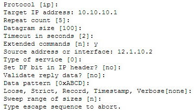 Which Cisco IOS command would produce the preceding menu-based prompt for additional information?