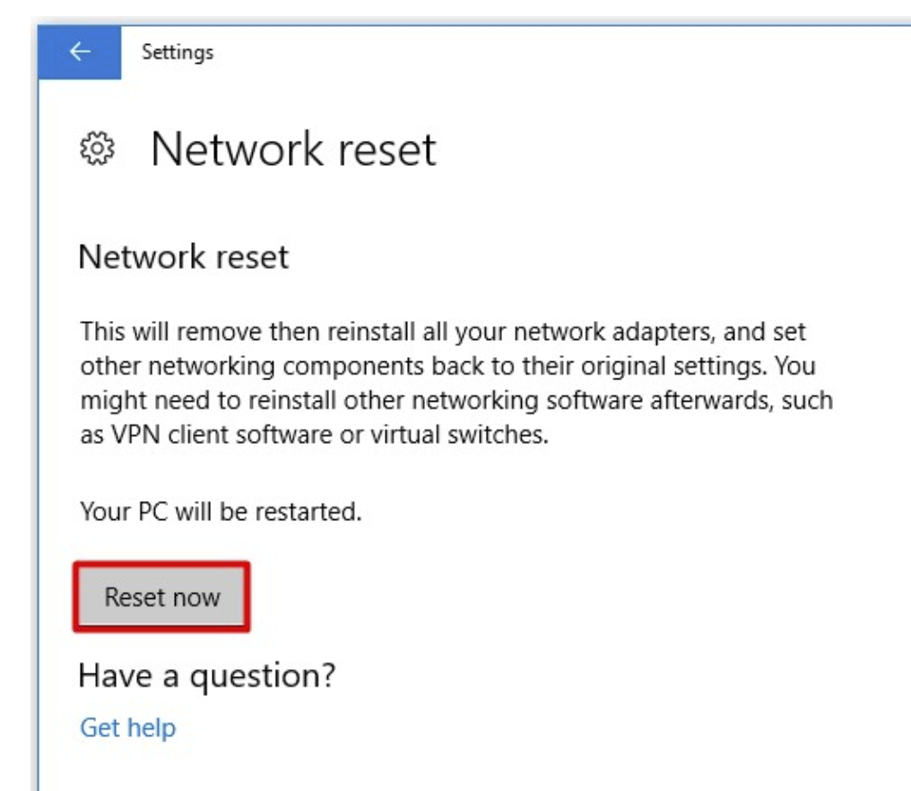 Perform execute Network reset option in the System settings.