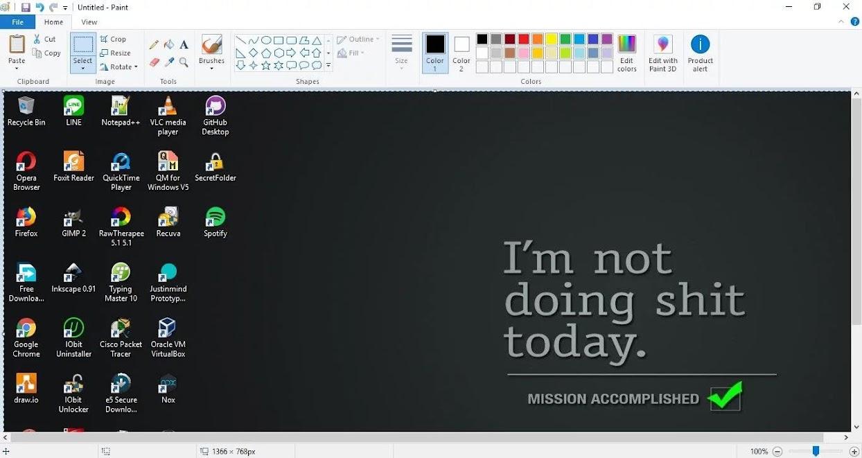 paste screenshot on paint