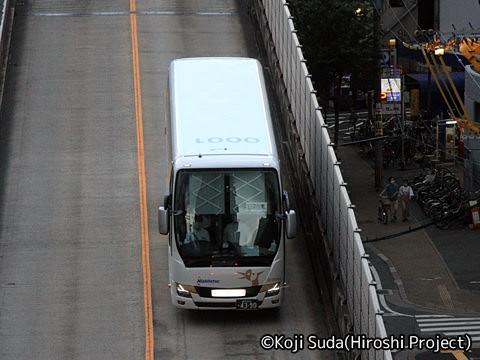 西鉄「はかた号」 0001 西鉄天神高速バスターミナルを発車_02