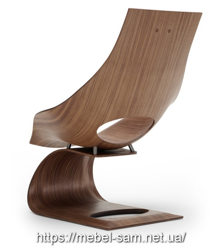 Кресло из гнутоклеенной фанеры DREAM CHAIR от Tadao Ando