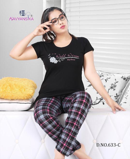 Vol 633 Kavyansika Ladies Night Suits Manufacturer Wholesaler