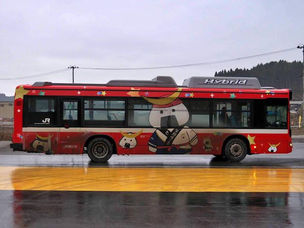 BRT車両のラッピング「むすび丸係長の巻」