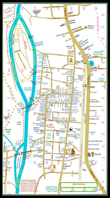 Mapa de Vang Vieng