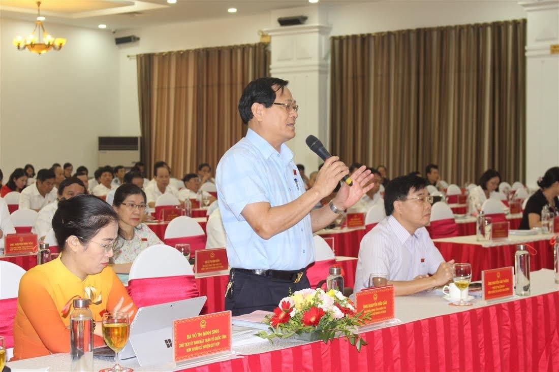 Thiếu tướng, PGS. TS Nguyễn Hữu Cầu cho ý kiến về Nghị quyết một số chính sách hỗ trợ công tác đấu tranh với tội phạm ma túy trên địa bàn tỉnh Nghệ An