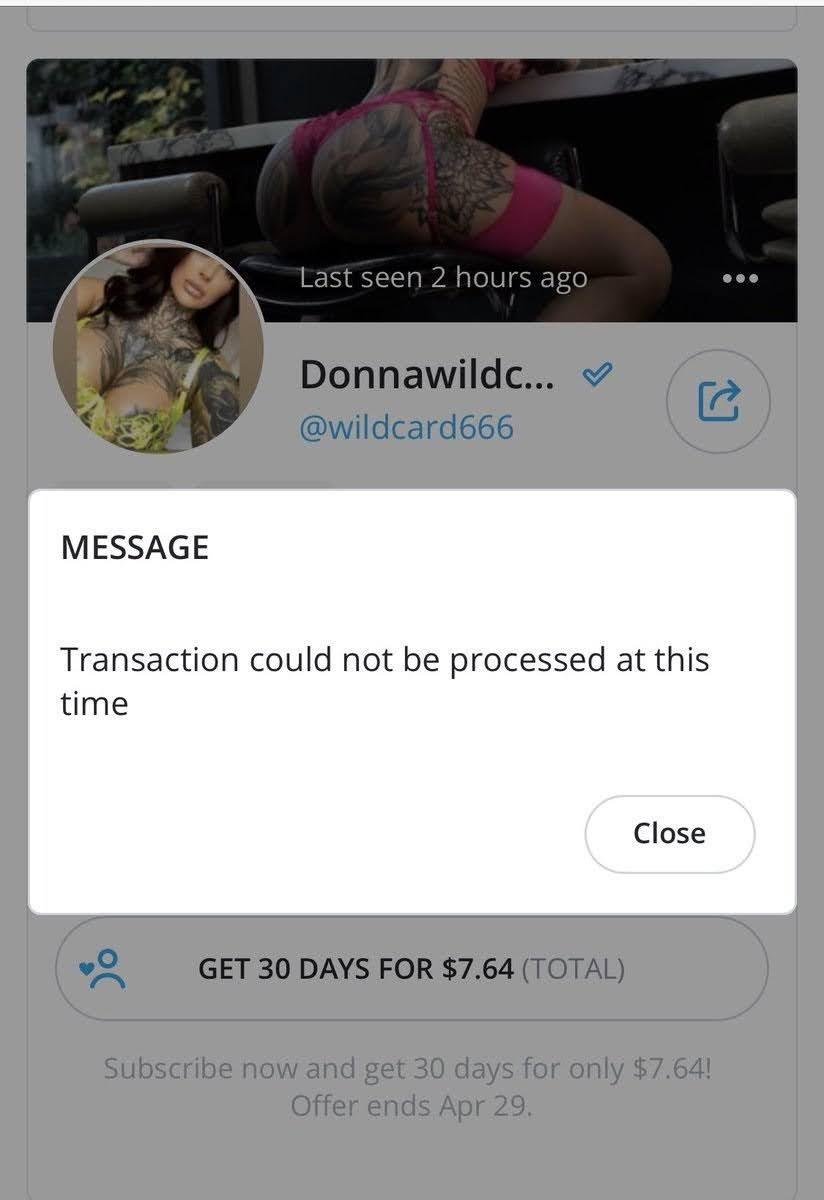 "Solved: How do I fix OnlyFans ""Transaction could not be processed at this time"" Error?"