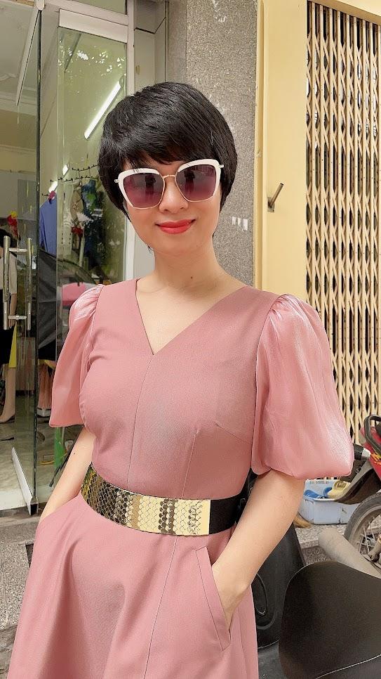 váy xòe midi công sở dạo phố thời trang thủy sài gòn