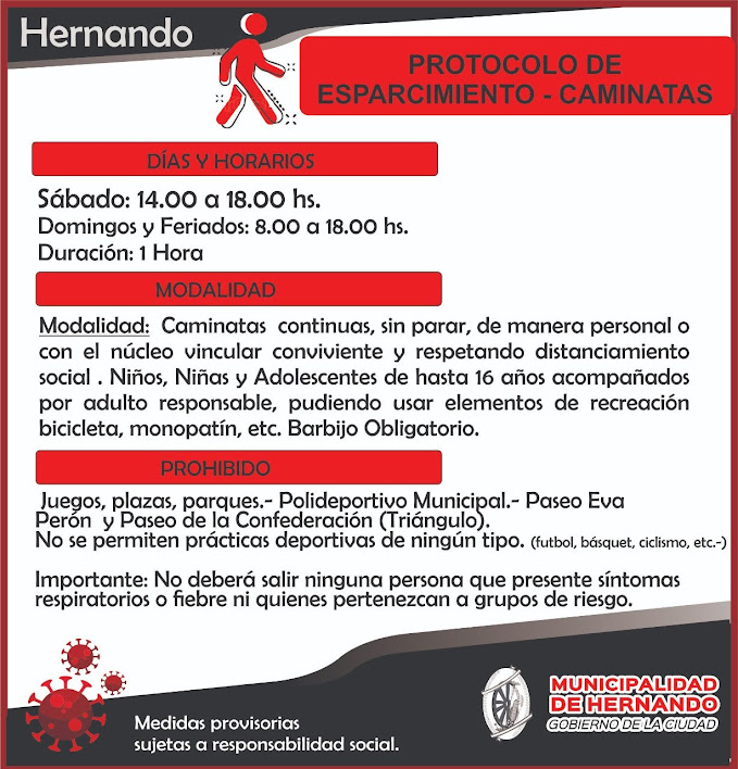 SE HABILITAN PASEOS EN HERNANDO