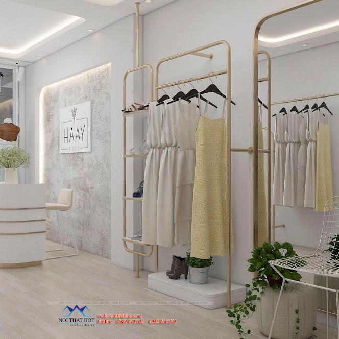 Giá treo quần áo sơn mạ vàng sang chảnh