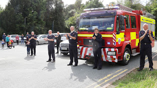 Firefighters turn out to honour NHS staff
