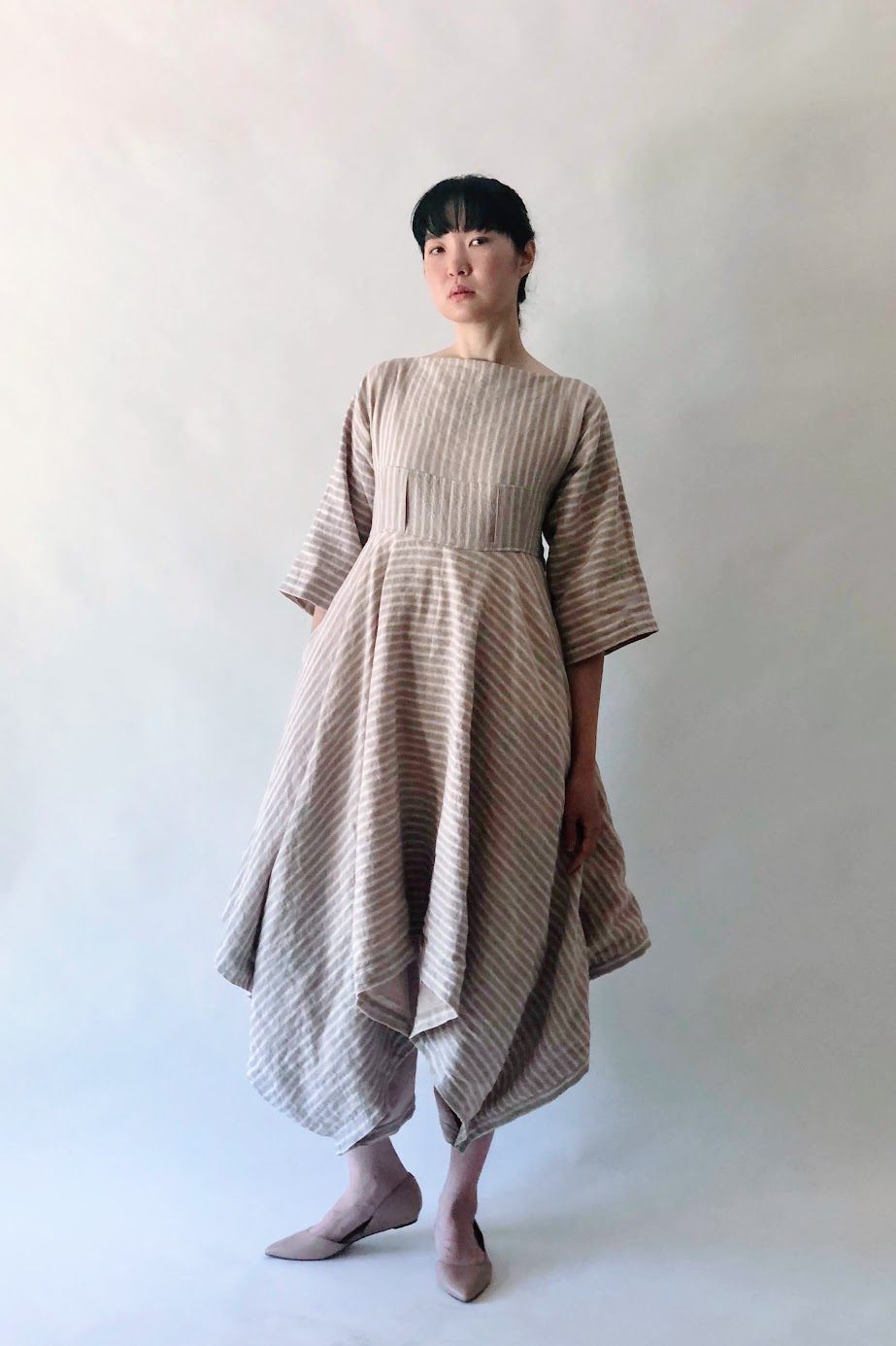 Alternative Wearing Styles with Snap-On Buttons | Handkerchief Dress - FAFAFOOM.COM