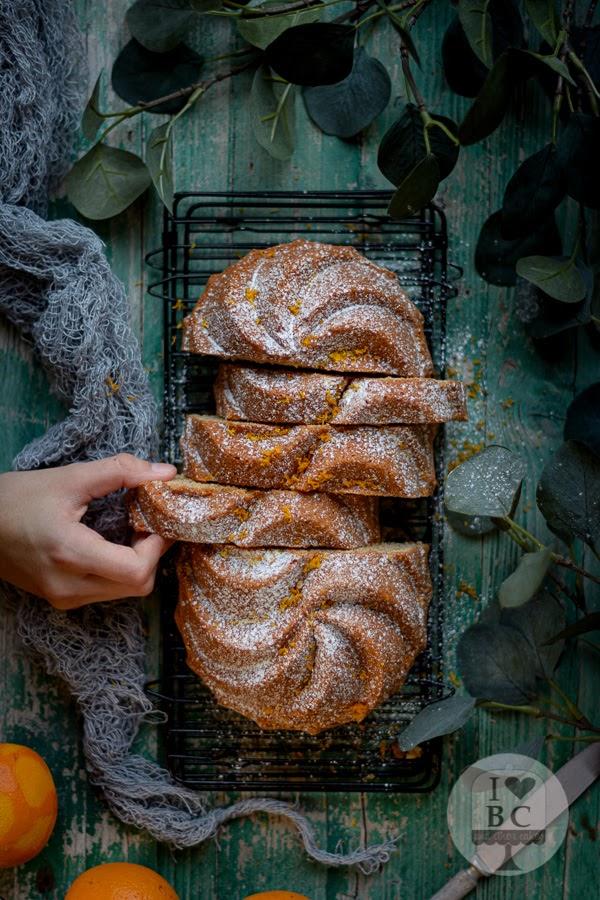 Loaf Cake de queso crema y naranja
