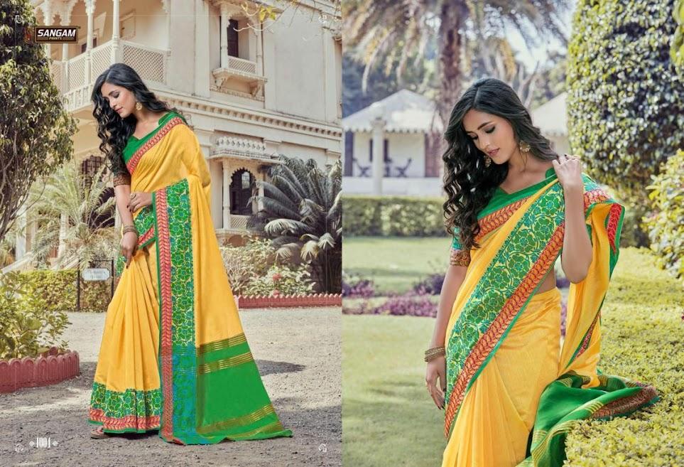 Sangam Prints Khadi Silk Vol 7 Sarees Catalog Lowest Price