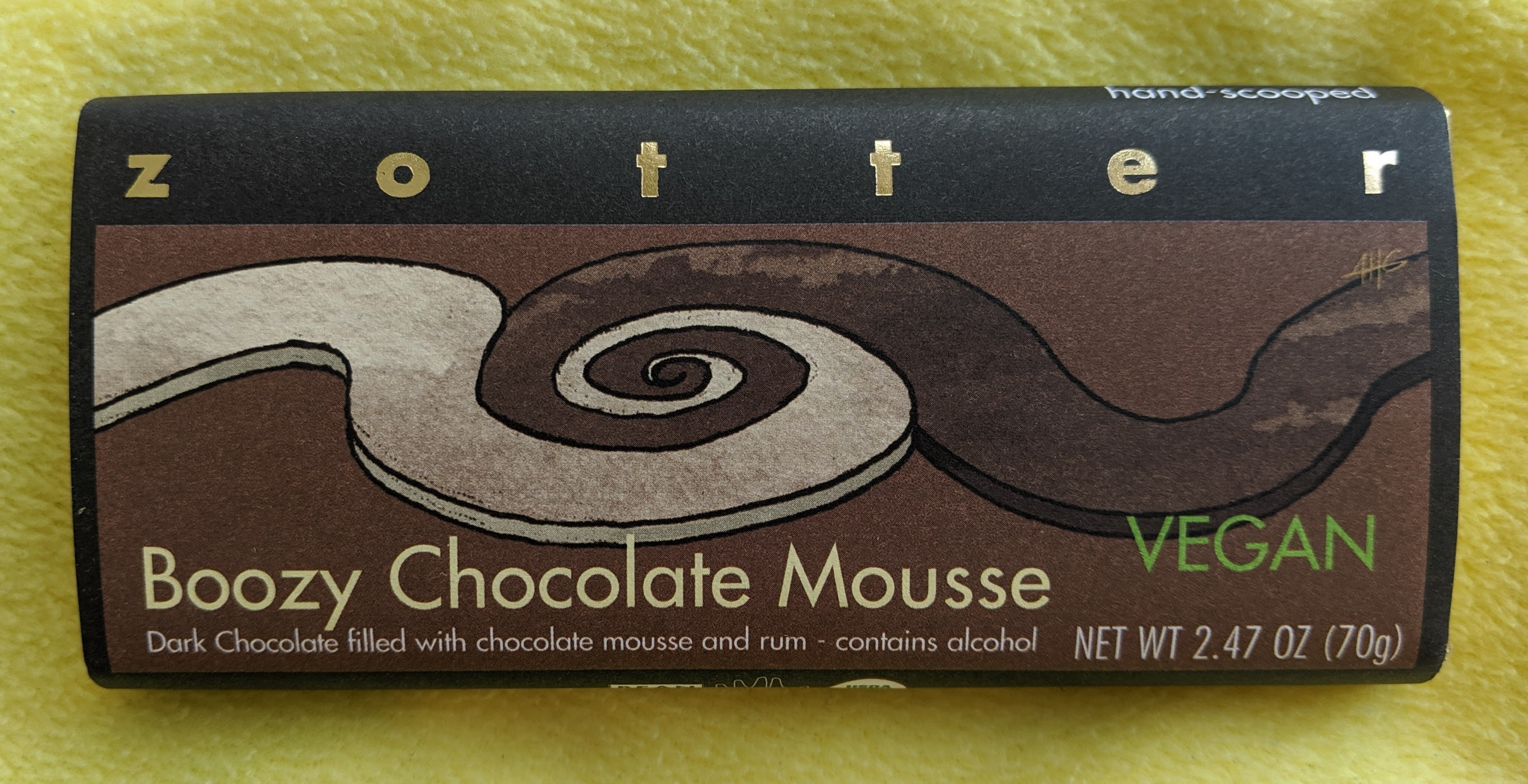70% zooter boozy mousse bar