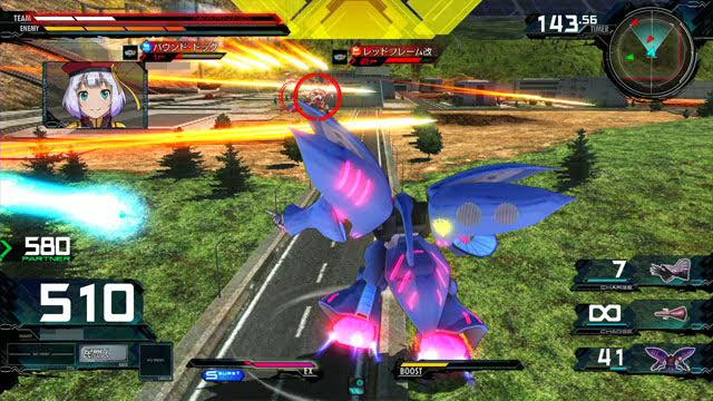 キュベレイMk-II(プル・ニュータイプ能力) レバー横特殊格闘→レバー横特殊射撃