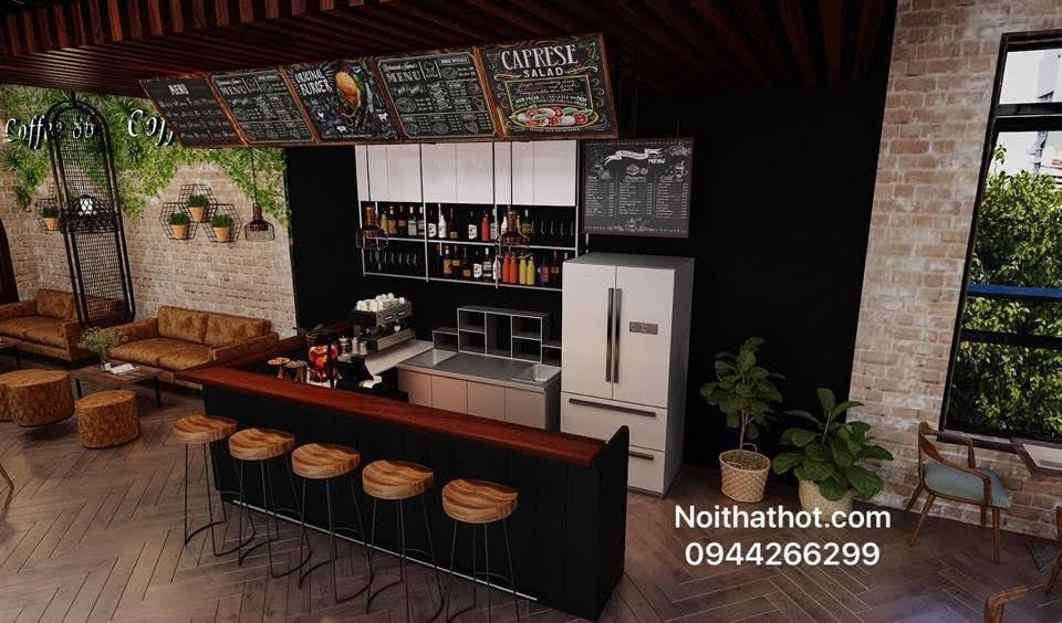 Thiết kế nội thất quán cafe 60m2