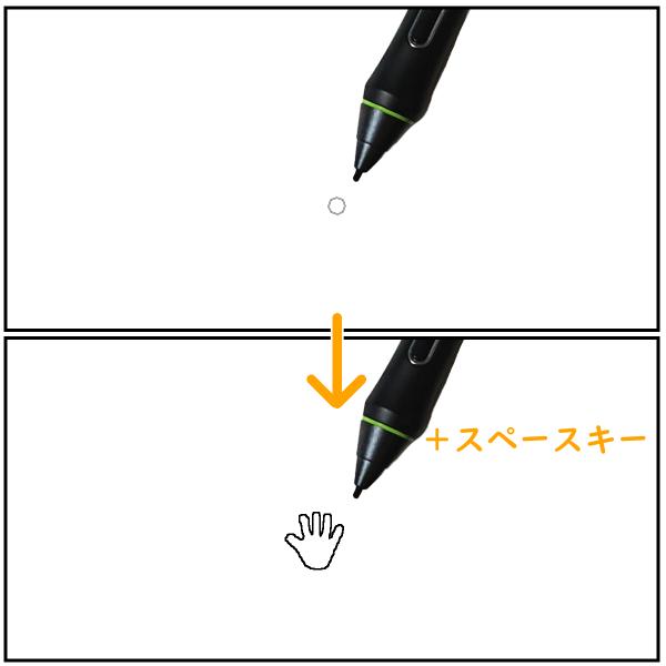 クリスタ:手のひらツール