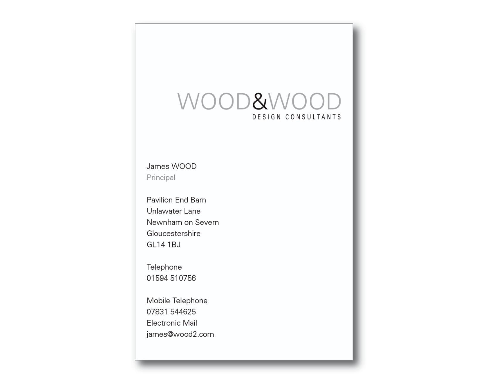 James Wood - Business Card