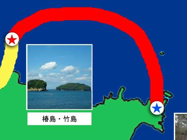 第2チェックポイント 椿島・竹島