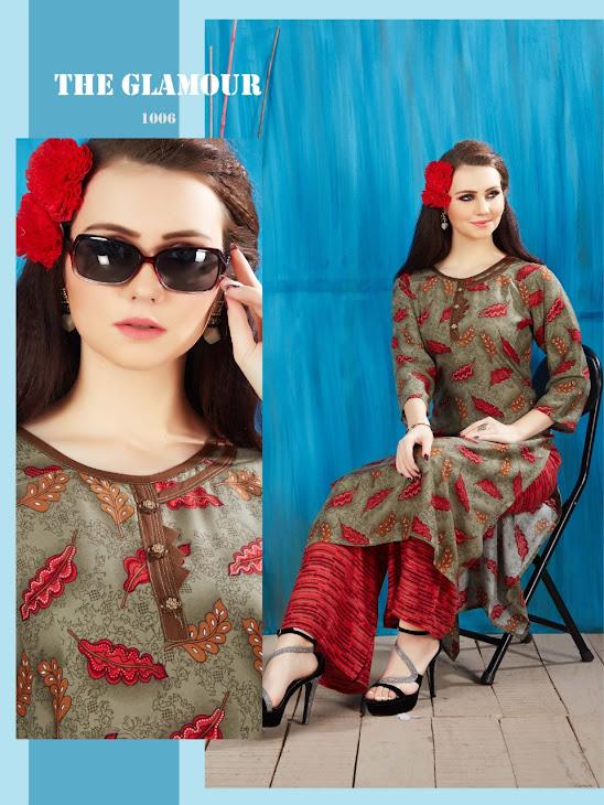 The Glamour Kavyansika Designer Kurtis Plazzo Set Manufacturer Wholesaler