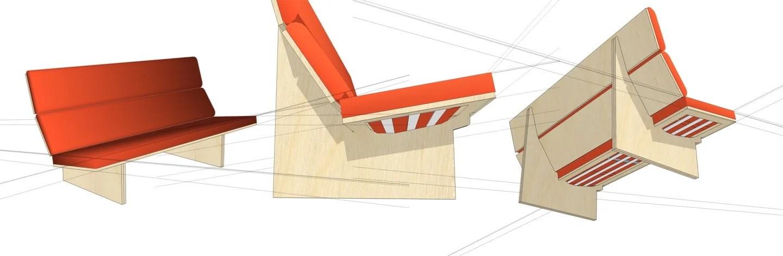 Первый протопип дивана автора в СкетчАпе