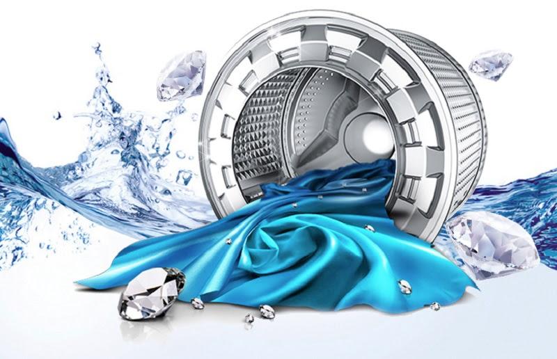 Lồng giặt kim cương trên máy giặt Samsung