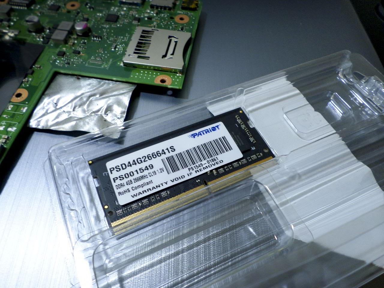 RAM DDR4 de 4 GB a 2666 MHZ SODIMM