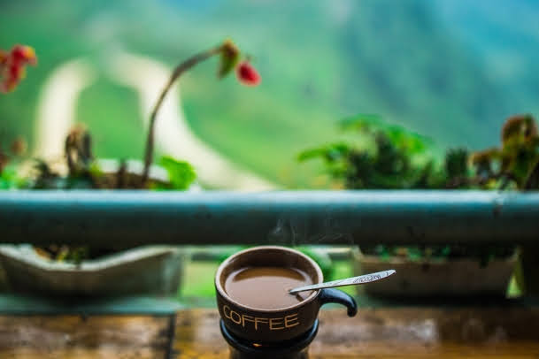 Coffee with a view in Quản Bạ