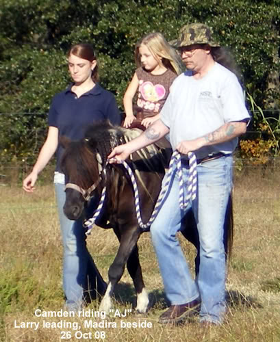 AJ with Larry and Madira leading and Camden riding