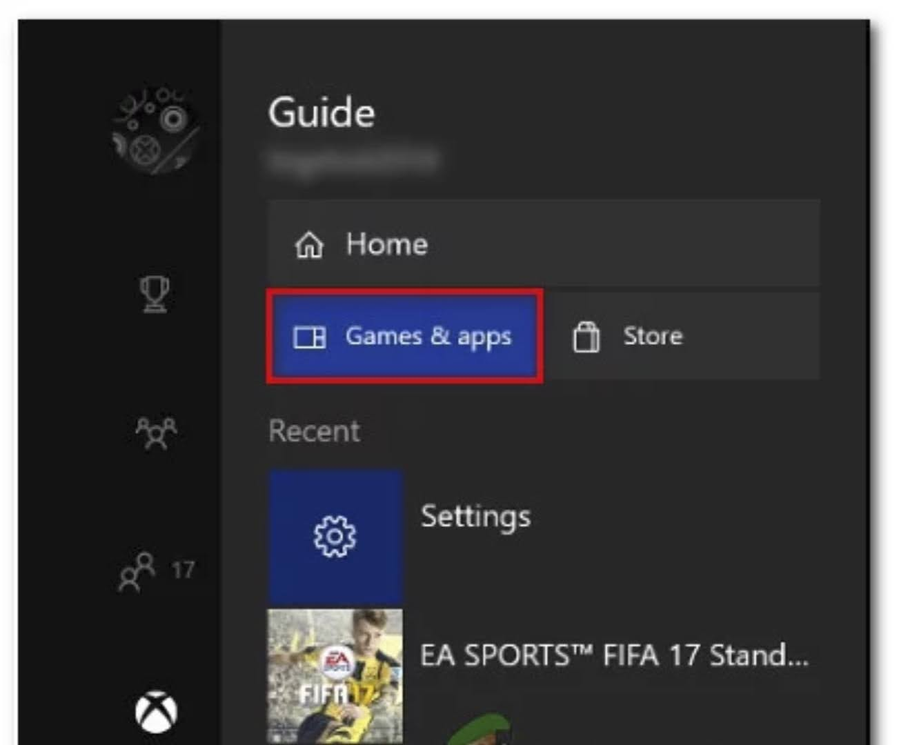 Go to Home > My games & Apps menu > select Roblox.