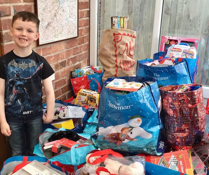 Mum and son launch Christmas toys appeal