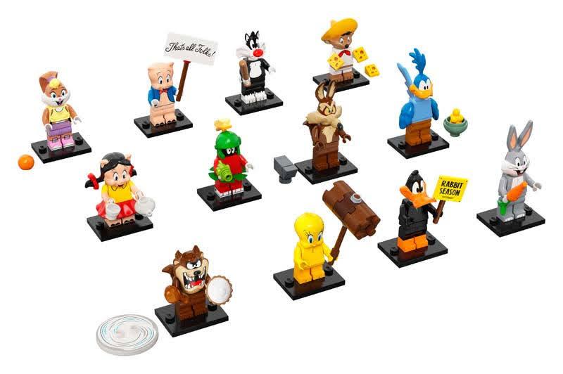 Contenido real de LEGO 71030 Sobre Sorpresa Looney Tunes