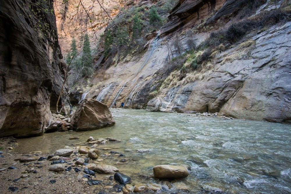 Zion Narrows Waterfall