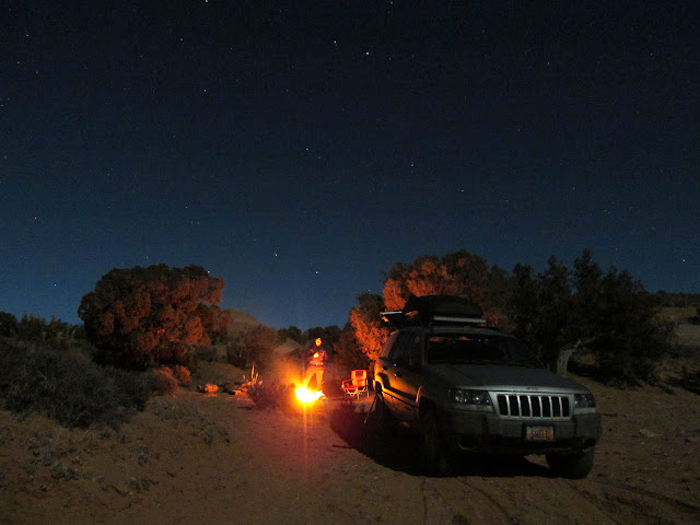 Friday's camp near Robber's Roost Ranch